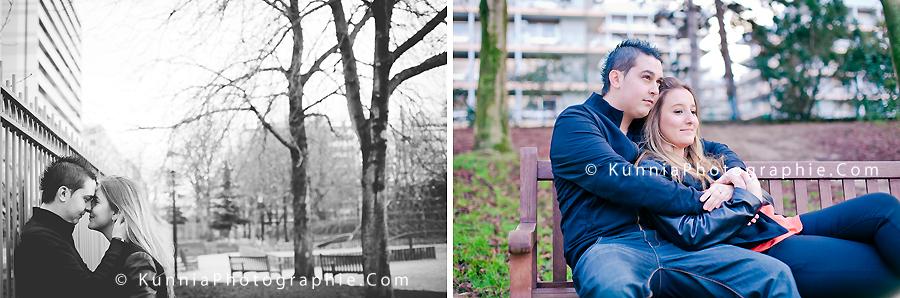 séance couple session engagement photographe couple sur Caen Cabourg Deauville Paris amoureux parc