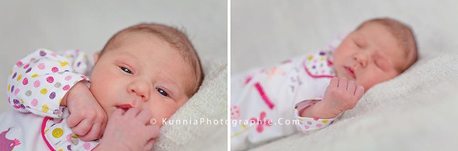 photographe nouveau né Caen bébé 12 jours studio  nouveau né bébé éveillé