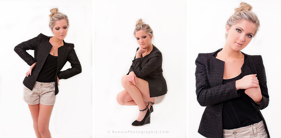séance photo en studio Calvados Aurore Girl Boyish séance mode modèle