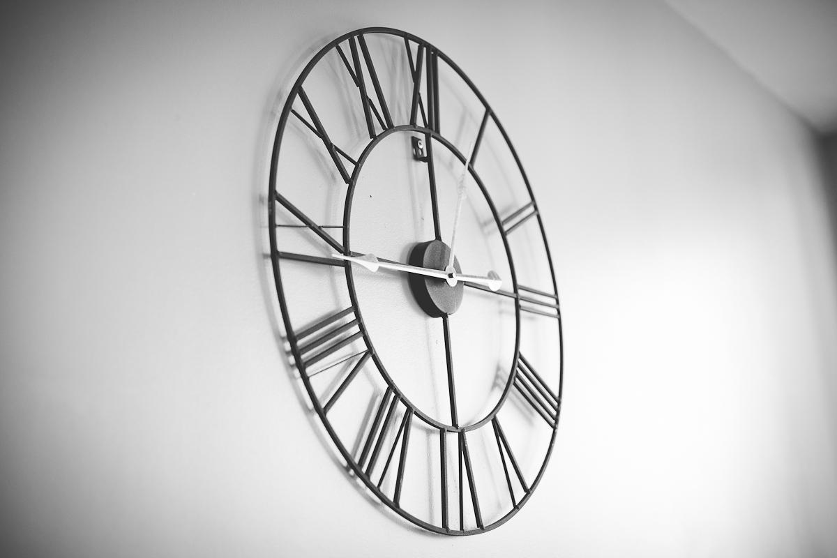 horloge pause du midi photographe à domicile