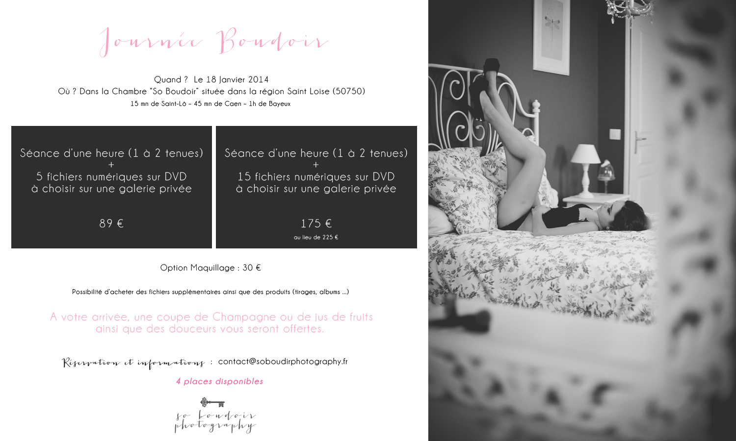 Journée Boudoir séance photo boudoir lingerie Caen
