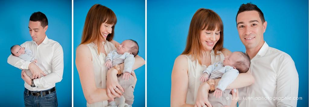 séance photo nouveau-né bébé photographe spécialiste maternité cabourg bébé avec bébé