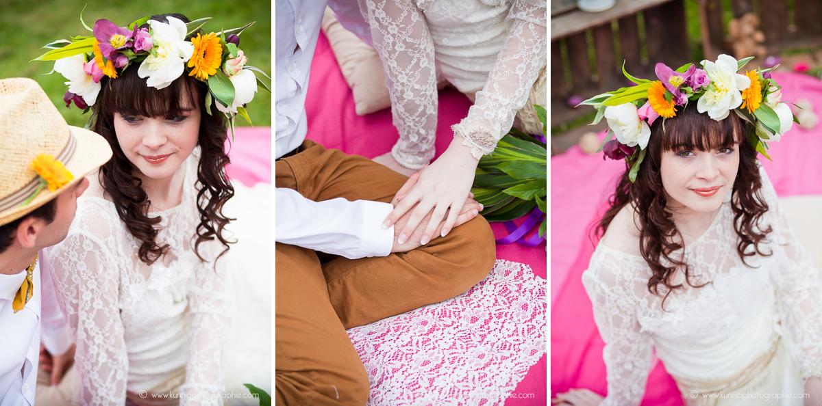 photographe mariage caen normandie   séance inspiration bohemian