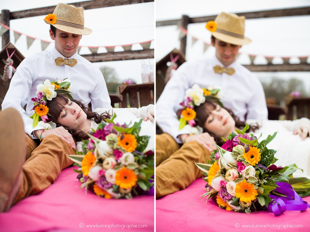 séance inspiration bohème bohemian soul photographe caen photographe mariage normandie dale fleurs maison dale what else elsa gary robe de mariée roulotte