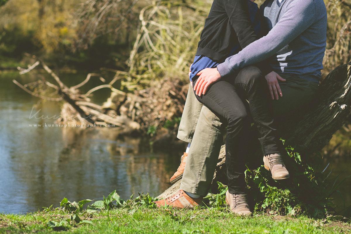 séance engagement photographe mariage suisse normande clécy