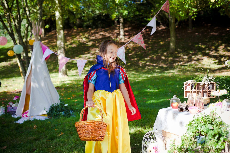 gouter des princesse disney photographe caen enfant petites filles blanche neige deguisement diy