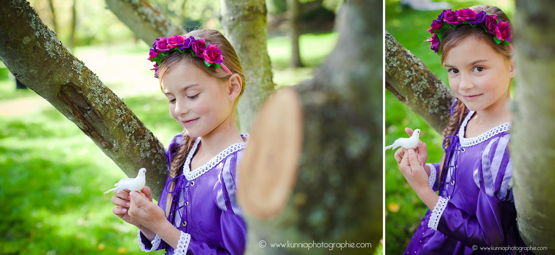 gouter des princesse disney photographe caen enfant raiponce deguisement diy couronne de fleurs