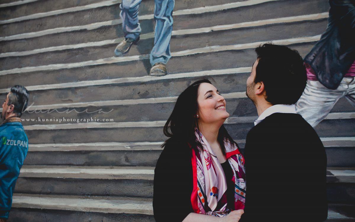 Photographe mariage Lyon | Séance Engagement à la Croix Rousse