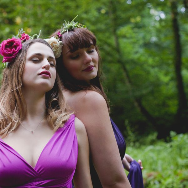 Séance Inspiration Bridemaids in Forest | Robes Eliza & Ethan | Photographe mariage Normandie Bretagne