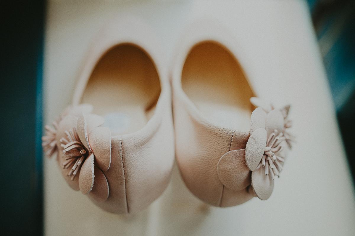 détail chaussures mariée elsa gary