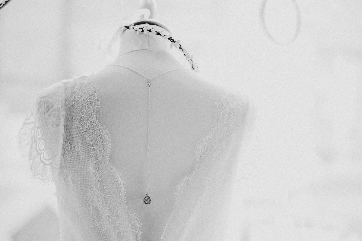 détail dos robe de mariée stephanie wolff