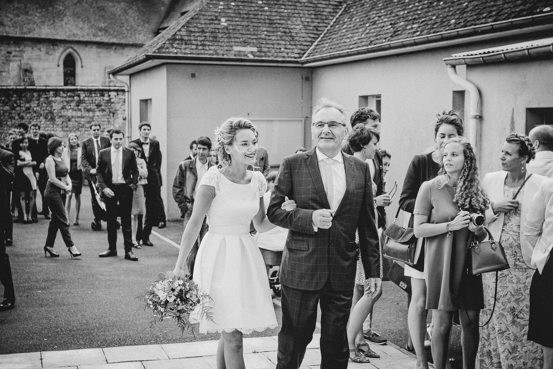 mariée en robe courte