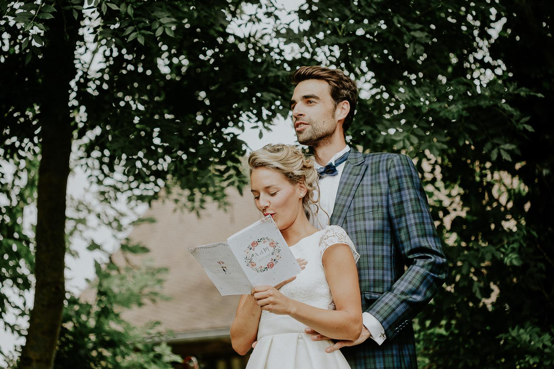 mariée en robe courte photographe mariage caen
