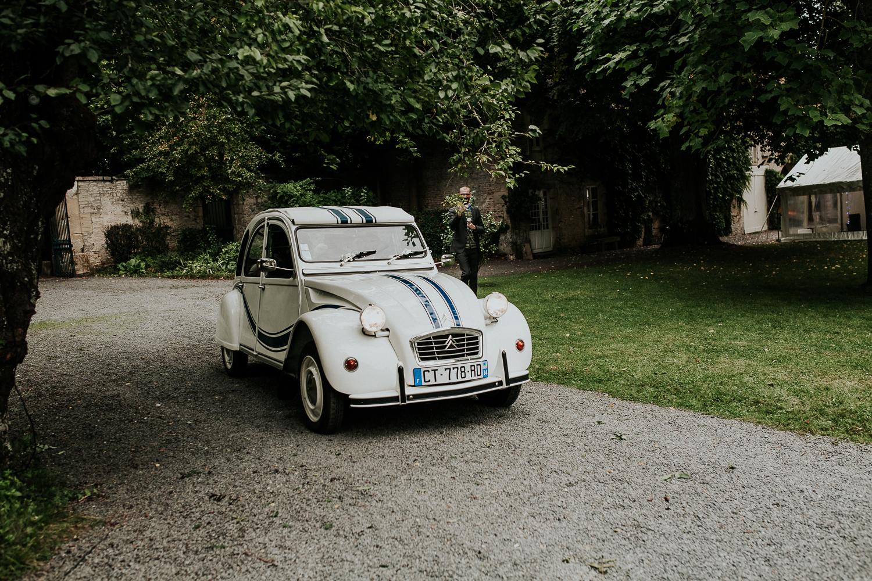 2cv voiture de collection mariage caen