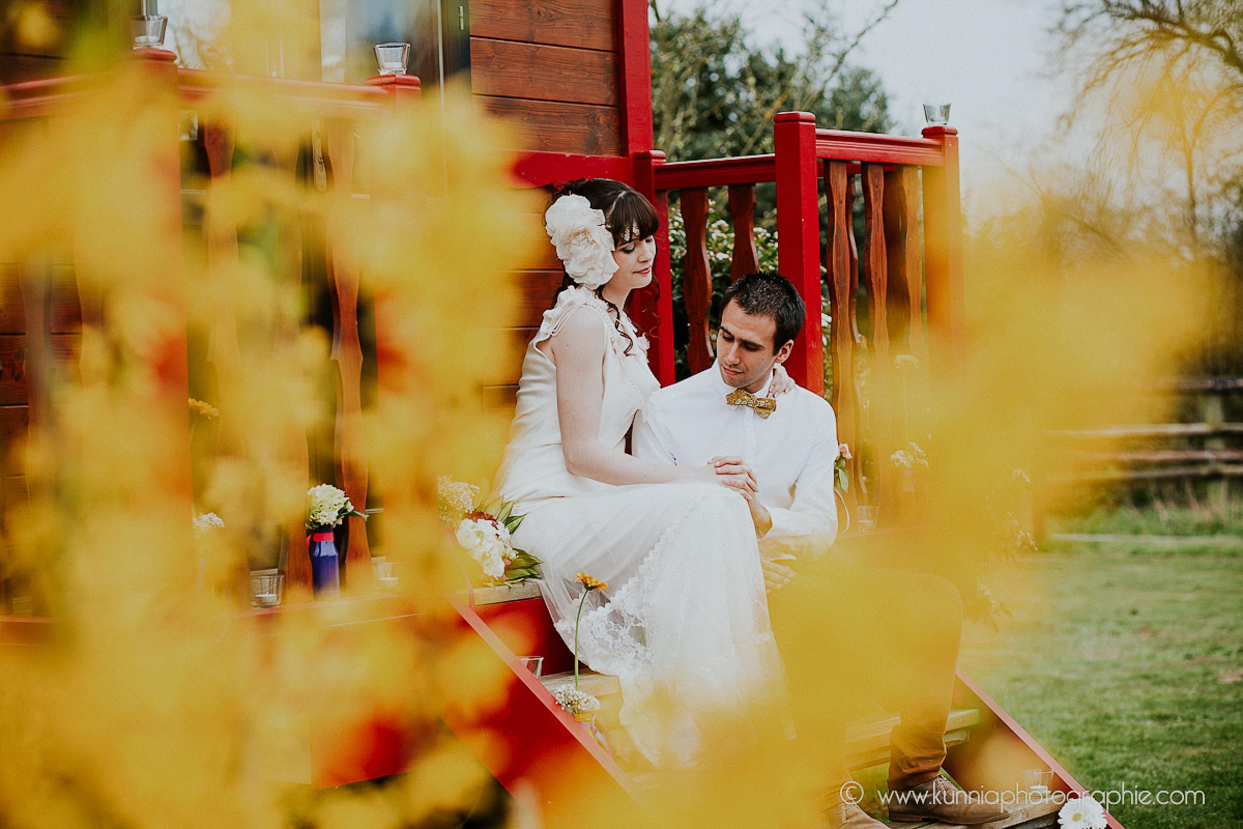 mariage boheme roulotte