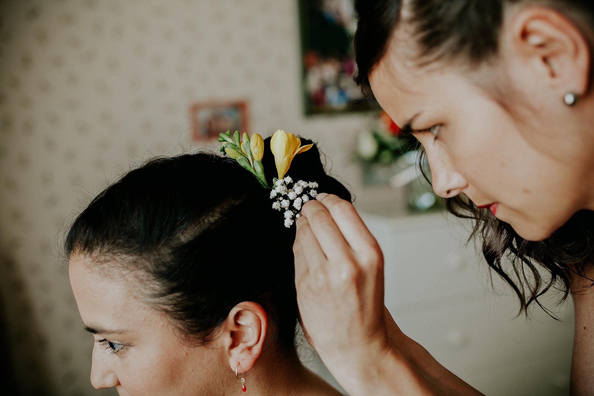 coiffure fleurs mariage normandie