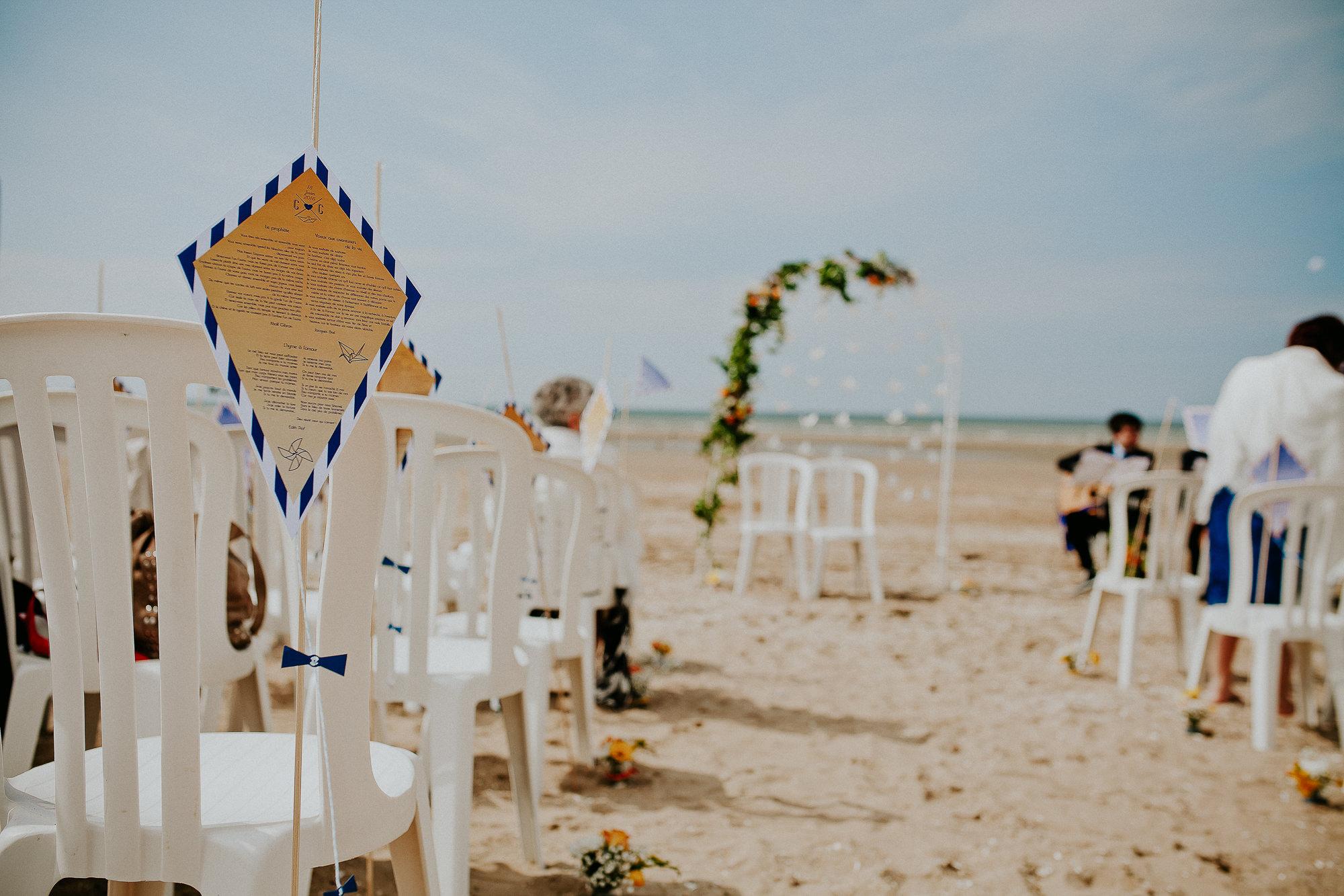 cérémonie laique plage houlgate