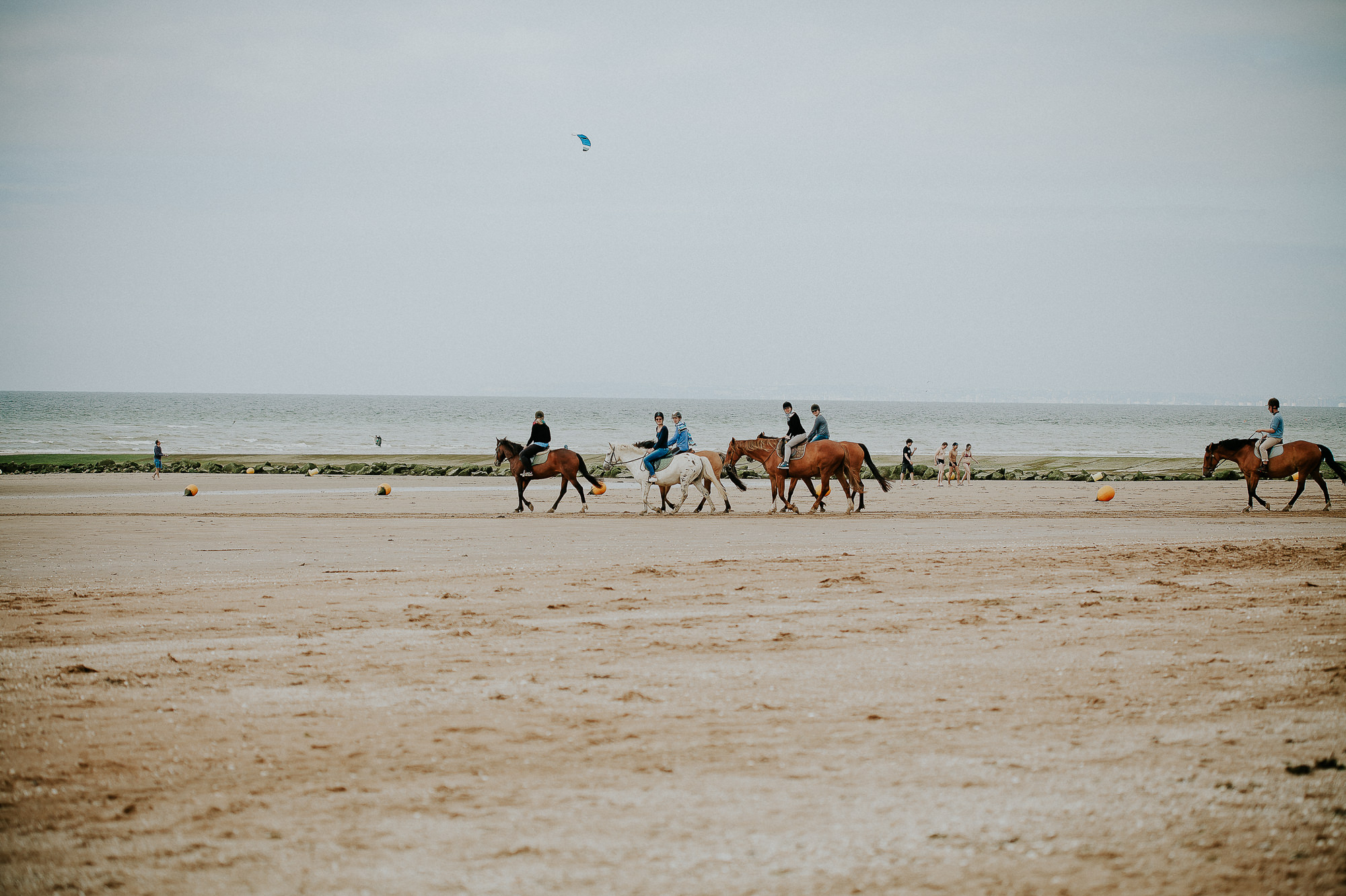 cérémonie laique plage houlgate chevaux