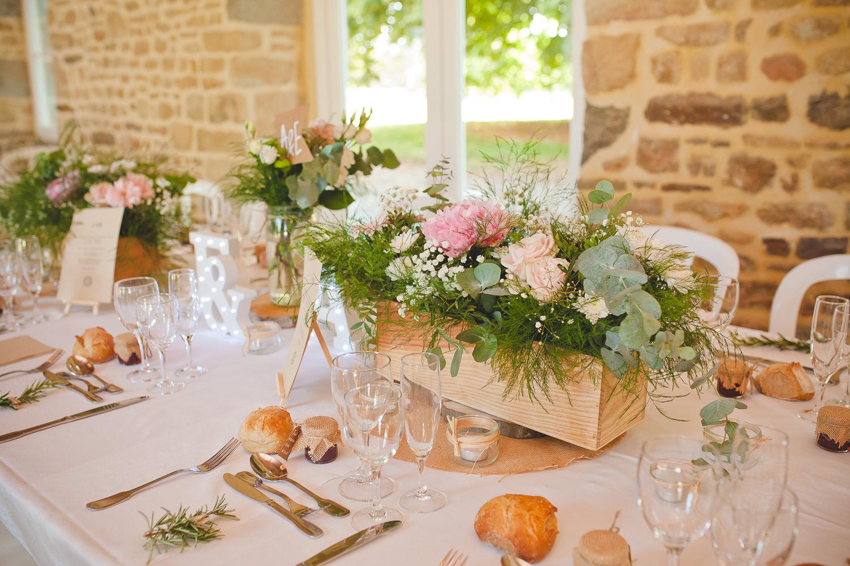 decoration vegetal mariage normandie