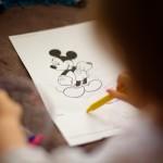 dessin mickey photographe enfant
